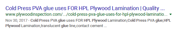 Cold Press PVA glue uses FOR HPL Plywood Lamination