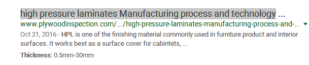 high pressure laminates Manufacturing process and technology