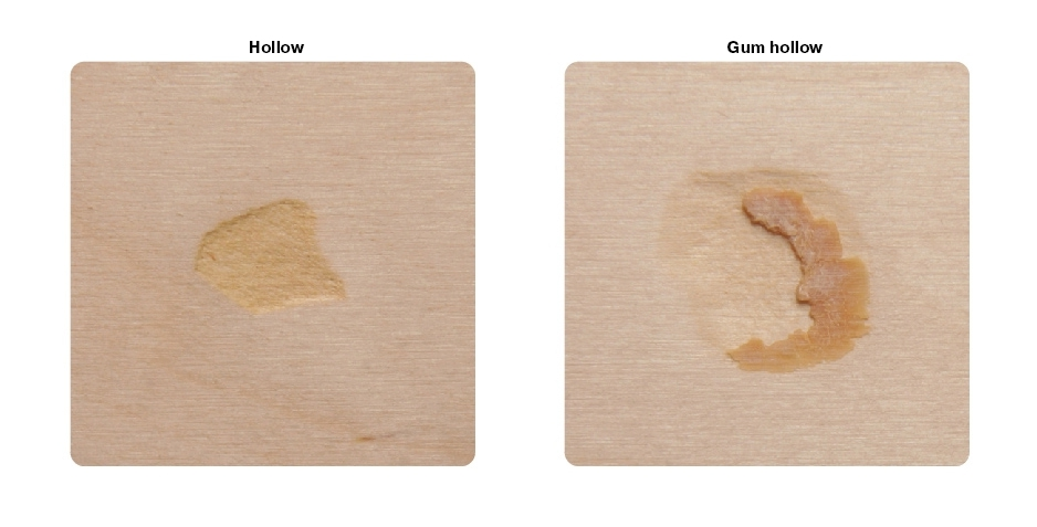 SVEZA Interior and Exterior Plywood grades Defects Part 14: Hollows