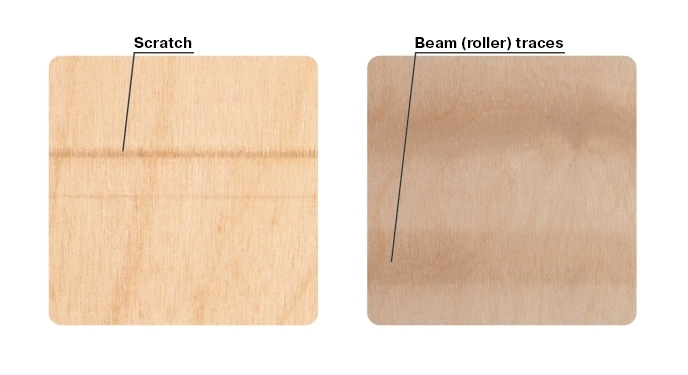 Manufacturing stains (beam traces, lines)