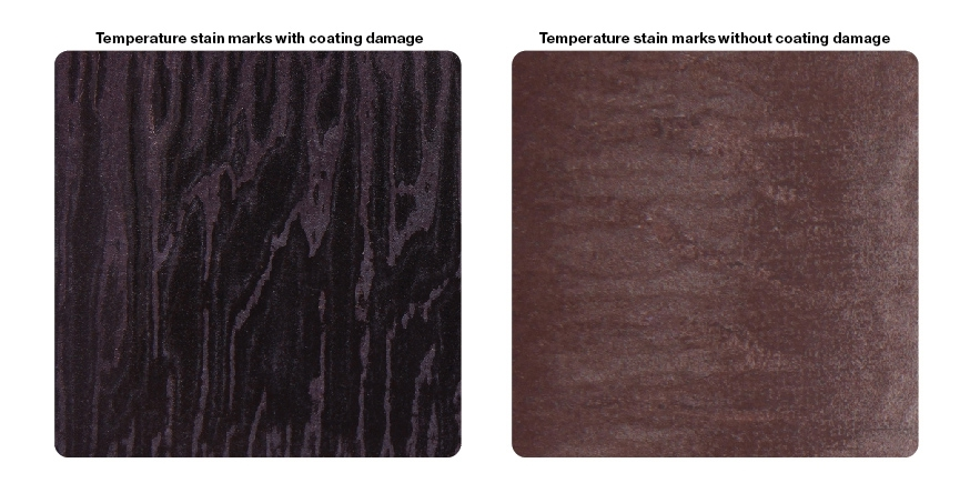 Temperature stain marks