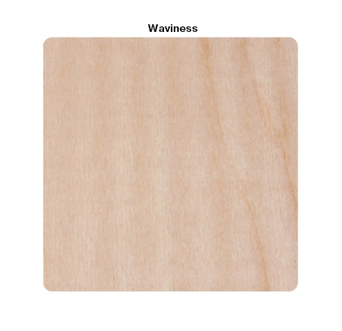 Waviness (sanded plywood), rough saw cut, ripple