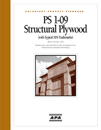 US Voluntary Product Standard PS 1-09 Structural Plywood